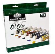 18 Colour Oil Paint Pack OIL21-18