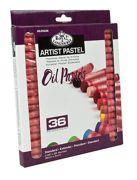 36 Quality Pigment Oil Pastels - Assorted Colours