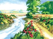 A3 Painting By Numbers Kit - Poppy Field Pal13