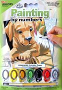 A5 Mini Painting By Numbers Kit - Labrador Puppy Pbnmin106