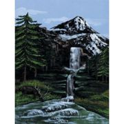 A4 Painting By Numbers Kit - Mountain Waterfall Pcs1