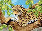 A3 Painting By Numbers Kit - Leopard In Tree Pjl11