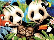 A3 Painting By Numbers Kit - Endangered Animals Pjl8
