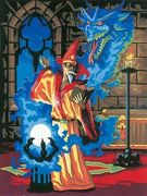 A4 Painting By Numbers Kit - Wizard Sorceror Pjs14