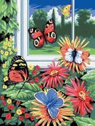 A4 Painting By Numbers Kit - Butterflies PJS17