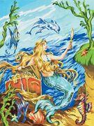 A4 Painting By Numbers Kit - Mermaid Pjs19