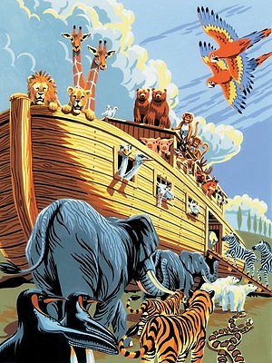 A4 Painting By Numbers Kit - Noah's Ark Animals Pjs23