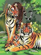 A4 Painting By Numbers Kit - Tigers Age Pjs27