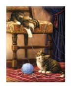A4 Painting By Numbers Kit - Playful Kittens Pjs64