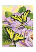A4 Painting By Numbers Kit - Swallowtail Butterflies Pjs69