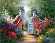 A3 Deluxe Canvas Painting By Greyscale Kit - Garden Gate Pom-set12