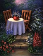 A3 Deluxe Canvas Paint By Greyscale Kit - Garden Table Pom-set13
