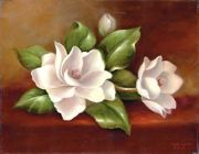 A3 Deluxe Canvas Painting By Greyscale Kit - Magnolias Pom-set15