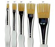 Set Of 5 Artist Aqualon Wisp Watercolour Paint Brushes - Flats