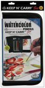 Watercolour Pencil Drawing Set With Pad In Zip-up Carry Case