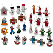 48 Wooden Christmas Tree Hanging Decorations