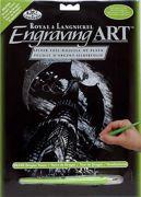A4 Dragon Tower Silver Engraving Art Kit Scraper Foil Silf26