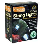 50 LED String Fairy Lights Solar Powered White 6.5m Outside Garden SLSL2
