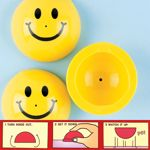 Smile Face Poppers 4.5cm Yellow T01 787