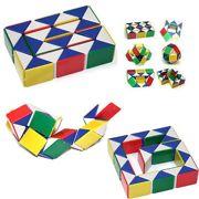 Mini 23cm Rubik Puzzle Snake Triangular Prisms - T08 188