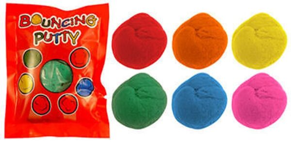 24x Mixed Colour Bouncing Putty Party Loot - T14 260