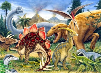 A5 Mini Painting By Numbers Kit - Jurassic Dinosaurs Pbnmin111