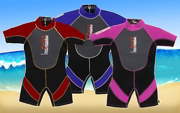 Children's Red Shorty Wetsuit - Age 3 to 4