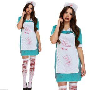 Adult Bloody Nurse Fancy Dress Costume