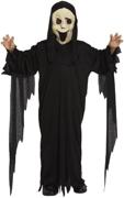 Children's Scream Ghost Halloween Fancy Dress Costume - 4/6 Yrs