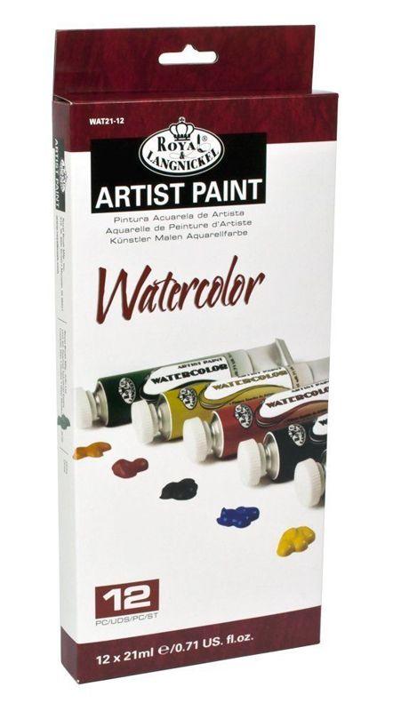 12 21ml Artist Essential Watercolour Paints