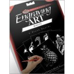 """Pack of Six Blank White Foil 11x14"""" Size Engraving Art Scraperfoil Boards"""