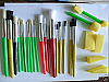 25 Piece Stencil Brush and Sponge Set with assorted sizes T20