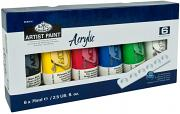 Royal & Langnickel 75ml Acrylic Painting Colour Set (Pack of 6) ACR75-6