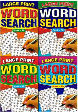A5 large print Word Search Books