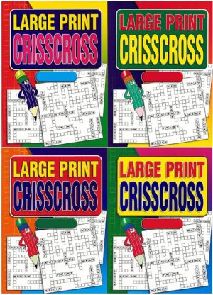Large Crisscross Puzzle Book