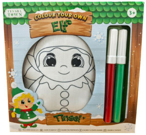 Colour Your Own Elf Cuddly Doodle Buddy Toy