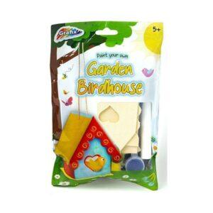 Make & Paint Your Own Garden Birdhouse