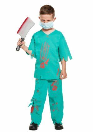 Childrens's Bloody Surgeon Halloween Fancy Dress Costume