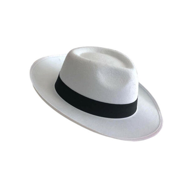 White Trilby Hat