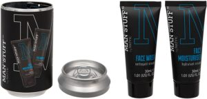 Man Stuff Skincare In A Beer Can
